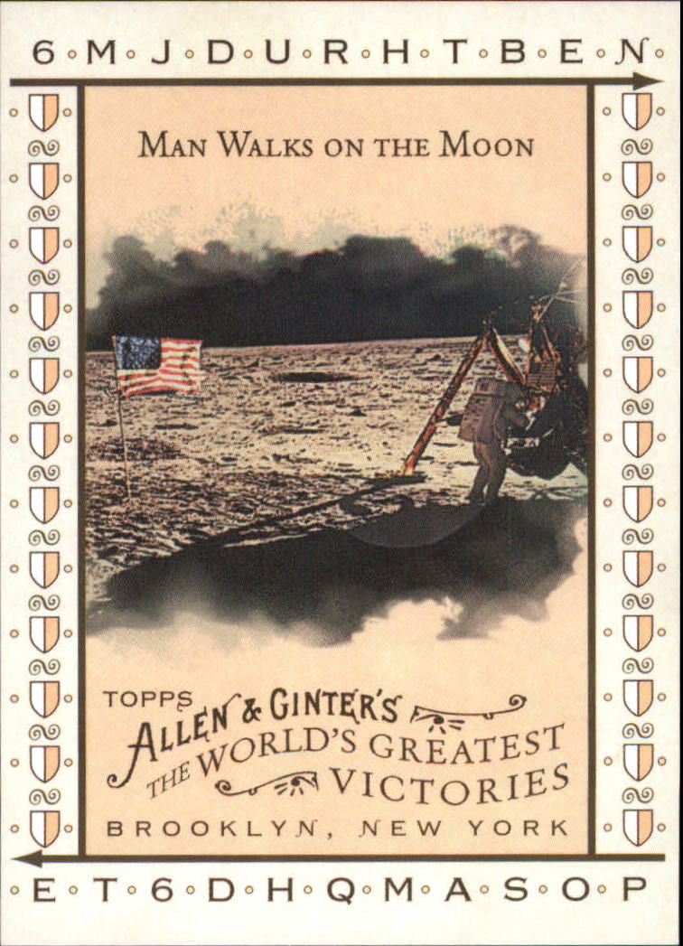 2008 Topps Allen and Ginter World's Greatest Victories #WGV4 Man Walks on the Moon