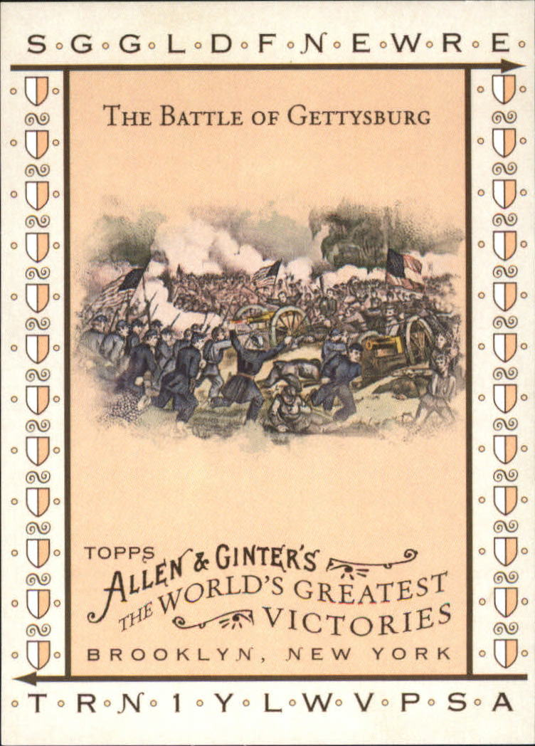 2008 Topps Allen and Ginter World's Greatest Victories #WGV9 The Battle of Gettysburg