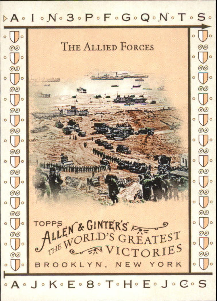 2008 Topps Allen and Ginter World's Greatest Victories #WGV11 The Allied Forces