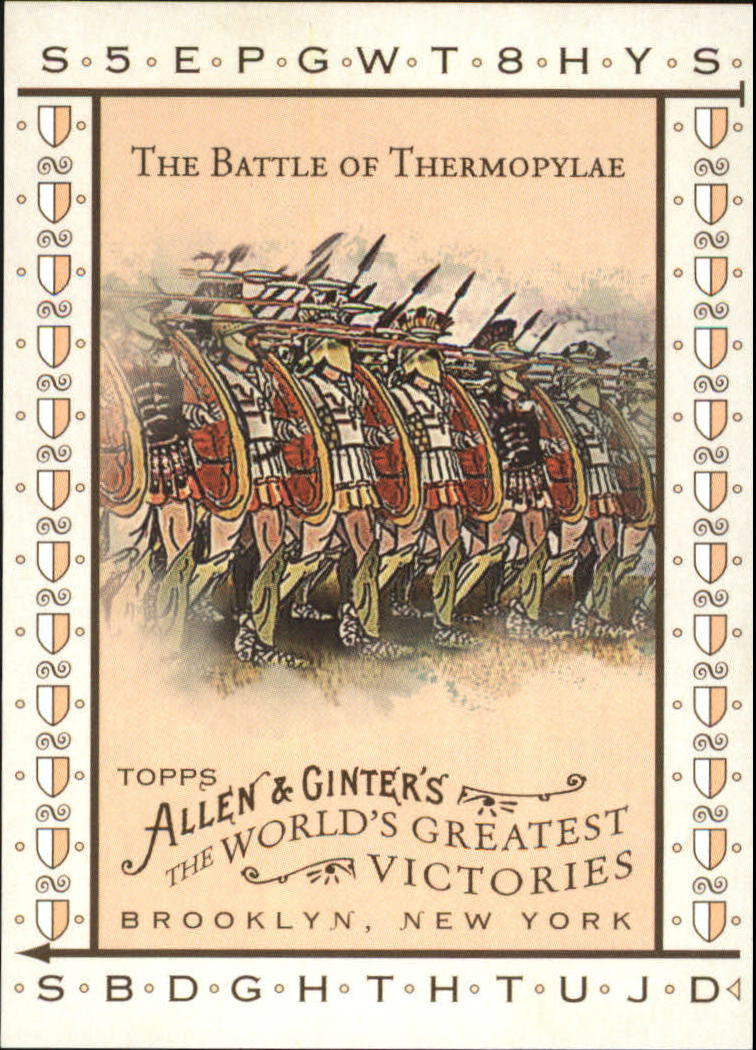 2008 Topps Allen and Ginter World's Greatest Victories #WGV16 The Battle of Thermopylae