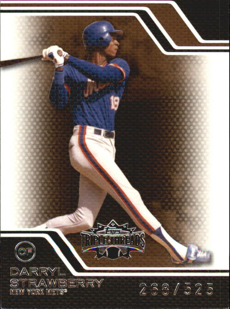 2008 Topps Triple Threads Sepia #43 Darryl Strawberry