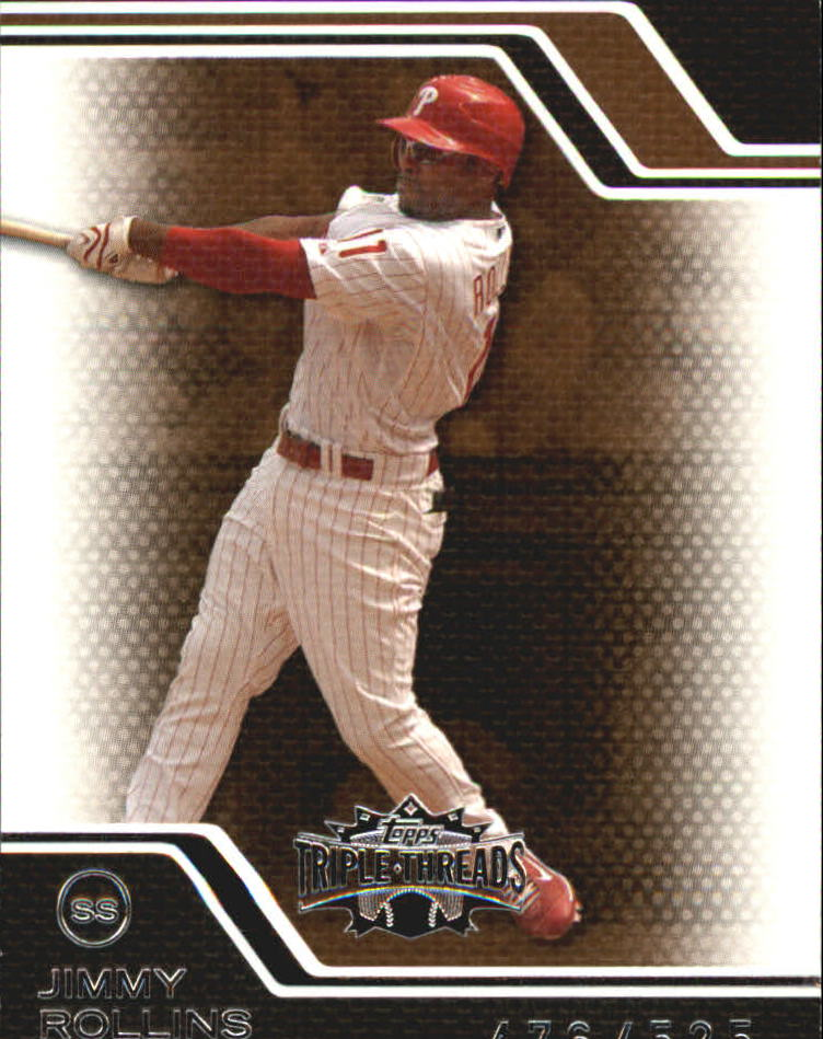 2008 Topps Triple Threads Sepia #56 Jimmy Rollins