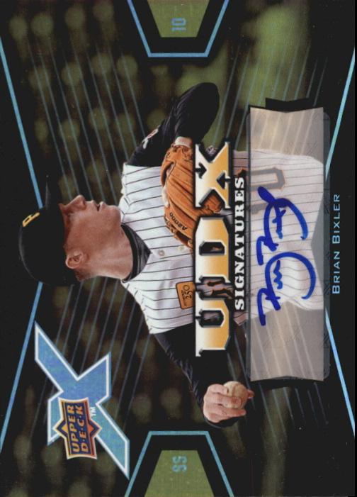 2008 Upper Deck X Signatures #BI Brian Bixler