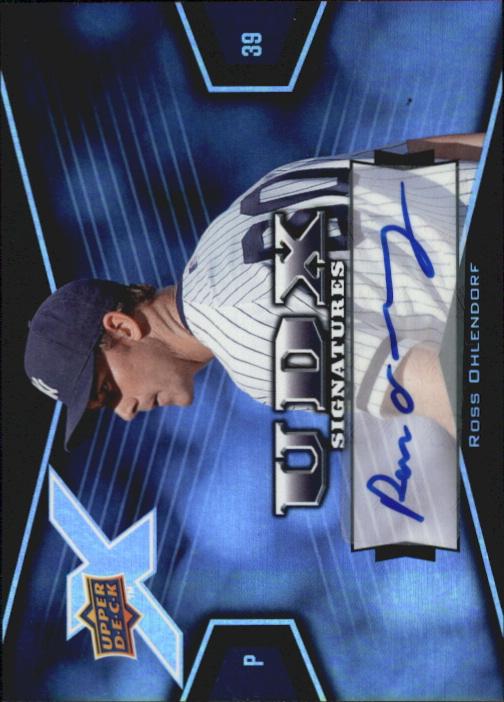 2008 Upper Deck X Signatures #RO Ross Ohlendorf