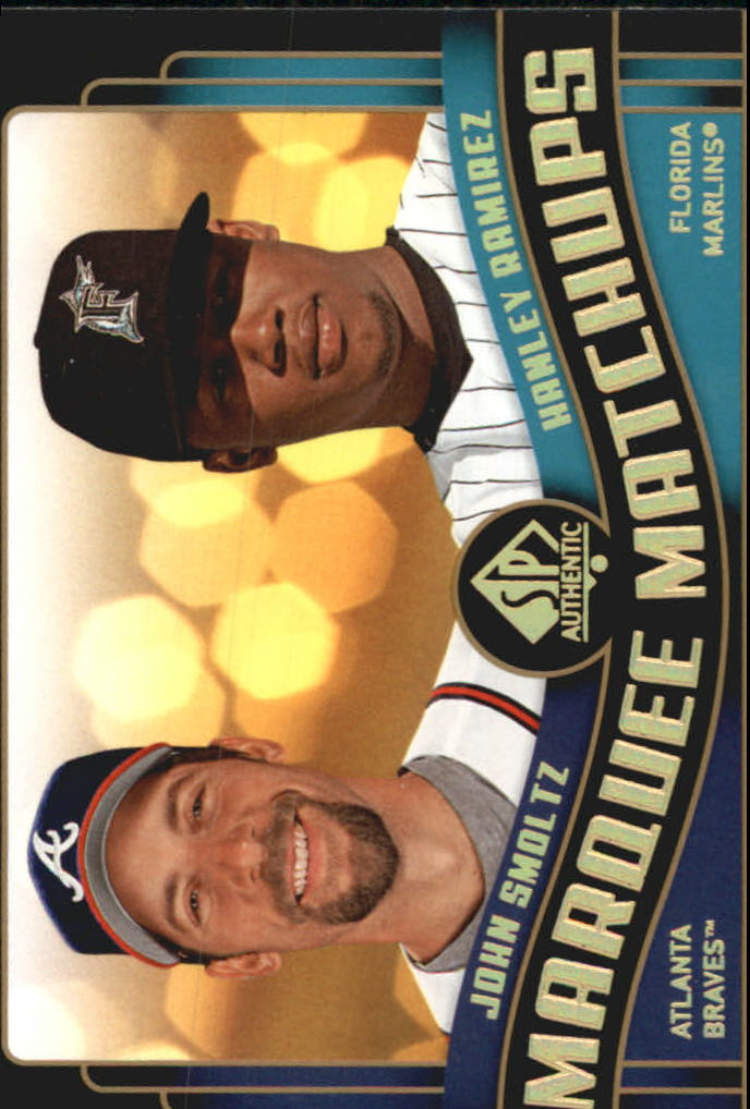 2008 SP Authentic Marquee Matchups #MM48 John Smoltz/Hanley Ramirez