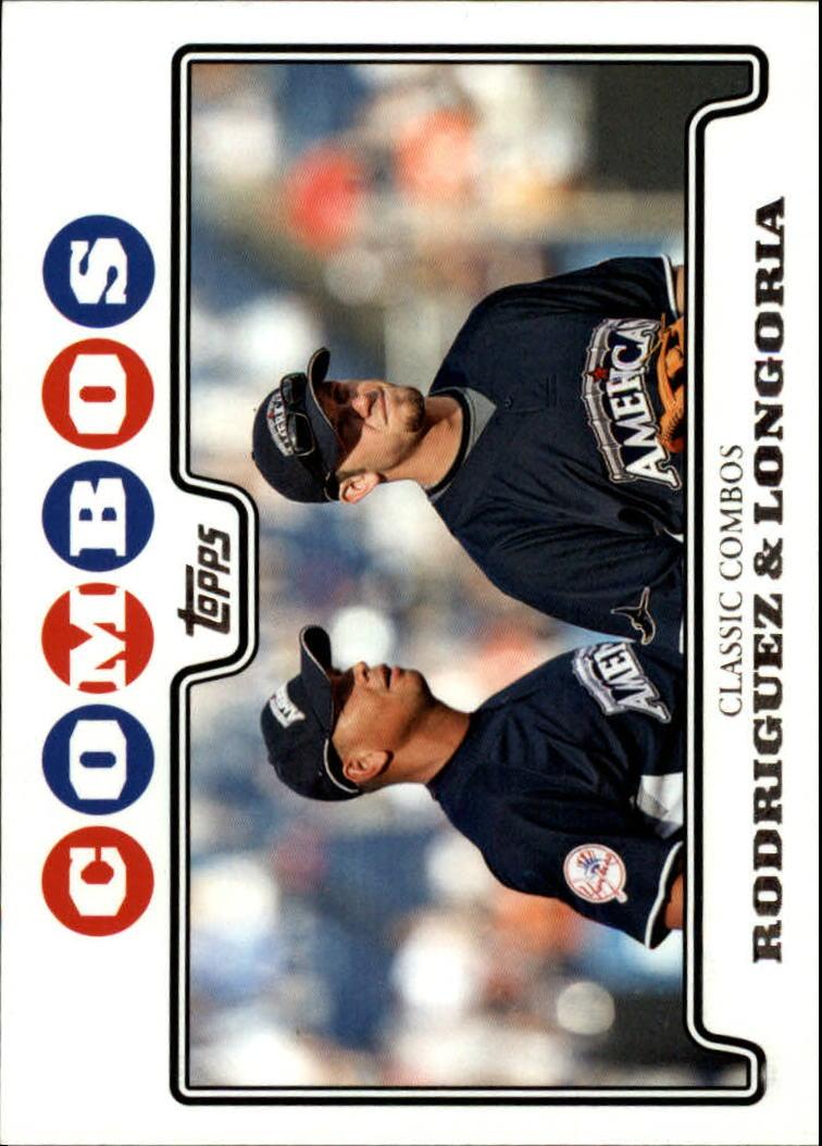 2008 Topps Update #UH124 Alex Rodriguez/Evan Longoria