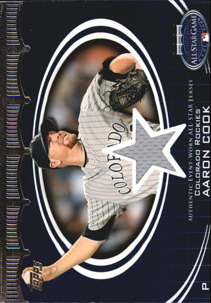 2008 Topps Update All-Star Stitches #AC Aaron Cook