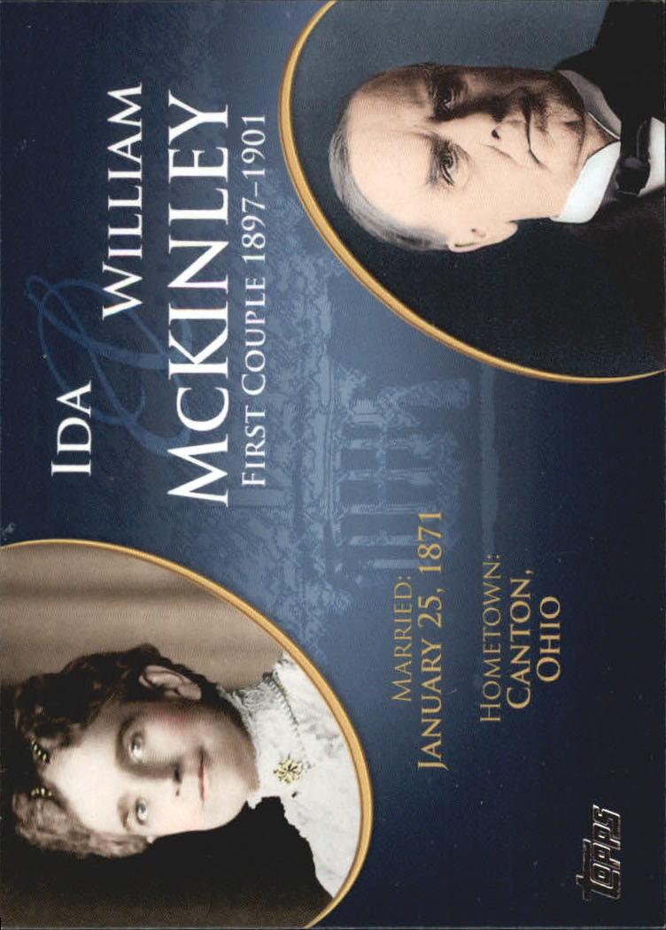 2008 Topps Update First Couples #FC23 William McKinley/Ida McKinley