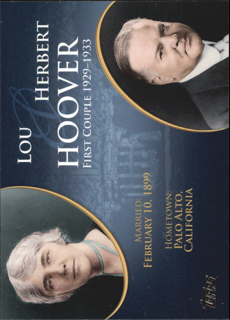 2008 Topps Update First Couples #FC29 Herbert Hoover/Lou Hoover