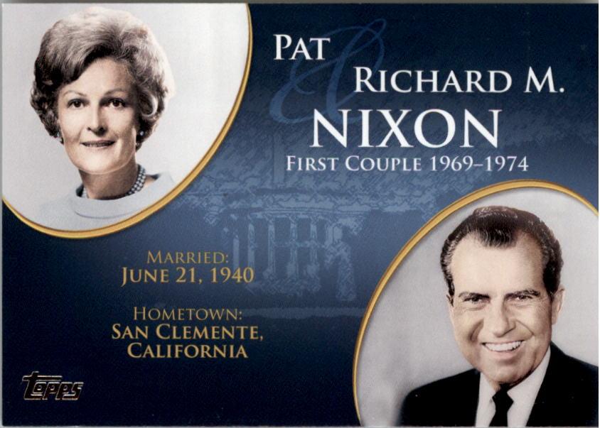 2008 Topps Update First Couples #FC35 Richard M. Nixon /Pat Nixon