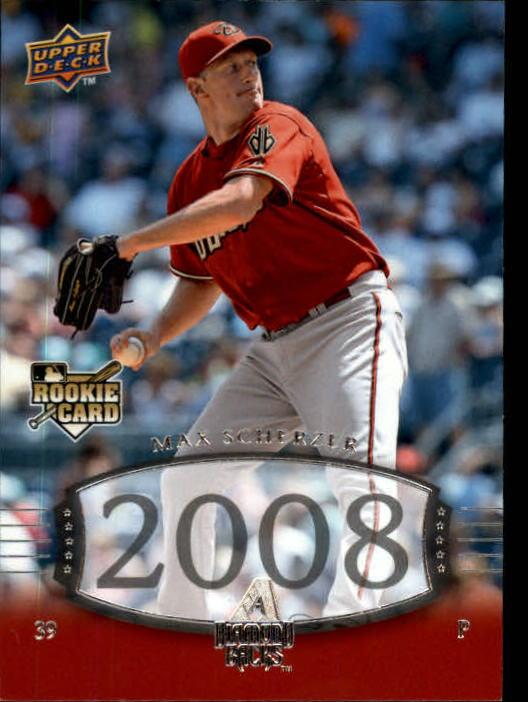 2008 Upper Deck Timeline #213 Max Scherzer 04 TT RC