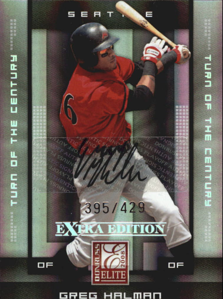 2008 Donruss Elite Extra Edition Signature Turn of the Century #39 Greg Halman/429