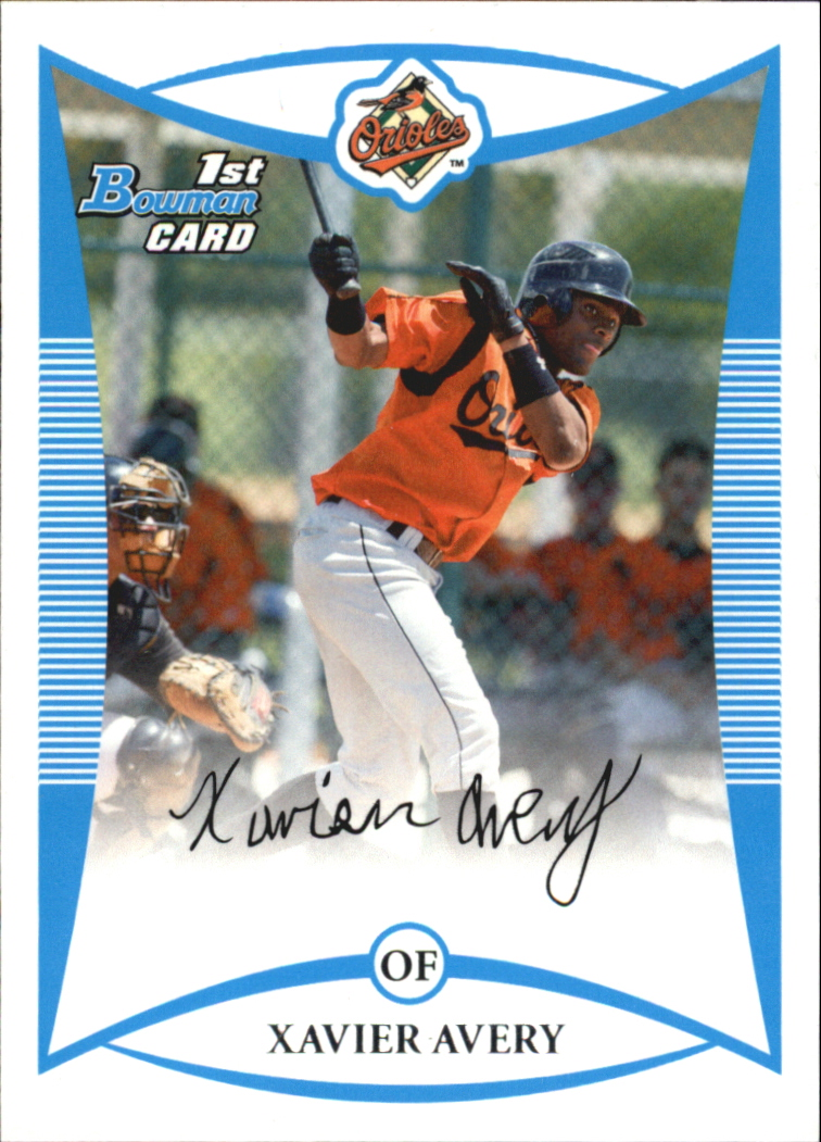 2008 Bowman Draft Prospects #BDPP24 Xavier Avery DP
