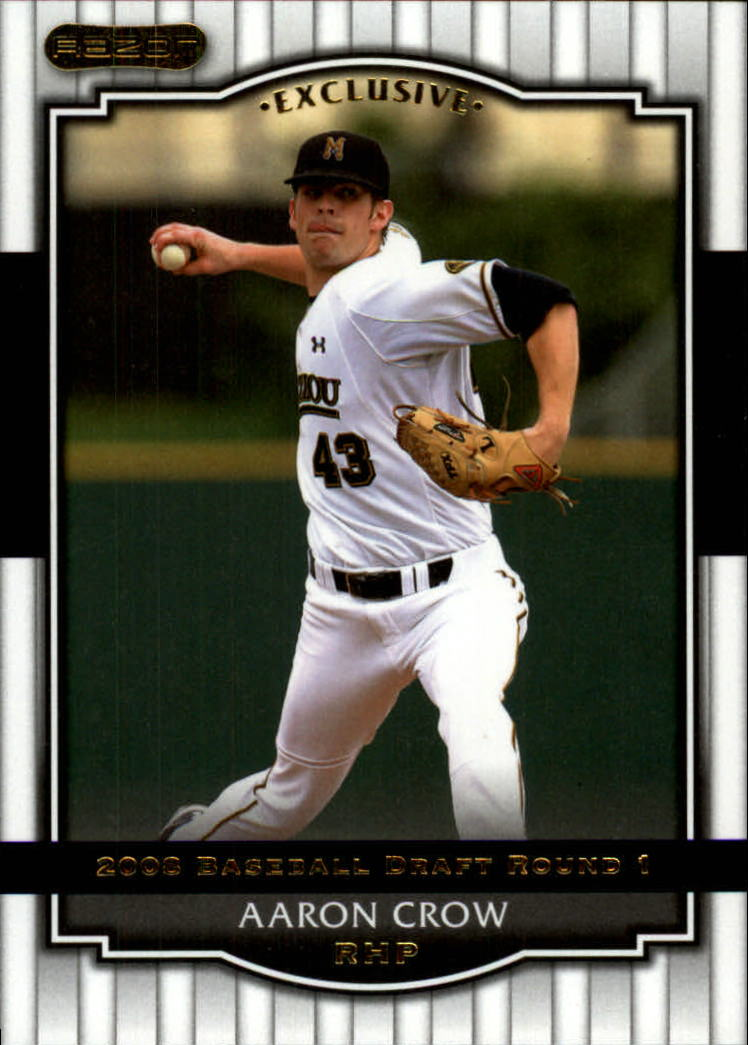 2008 Razor Signature Series #9 Aaron Crow