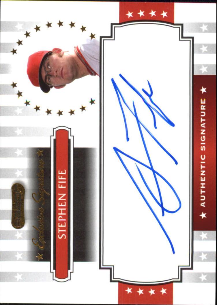 2008 Razor Signature Series Exclusives Autographs #ES22 Stephen Fife