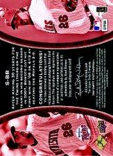 2008 Sweet Spot Signatures Red Stitch Blue Ink #SBB Boof Bonser/300 back image