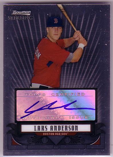 2008 Bowman Sterling Prospects #LA Lars Anderson AU