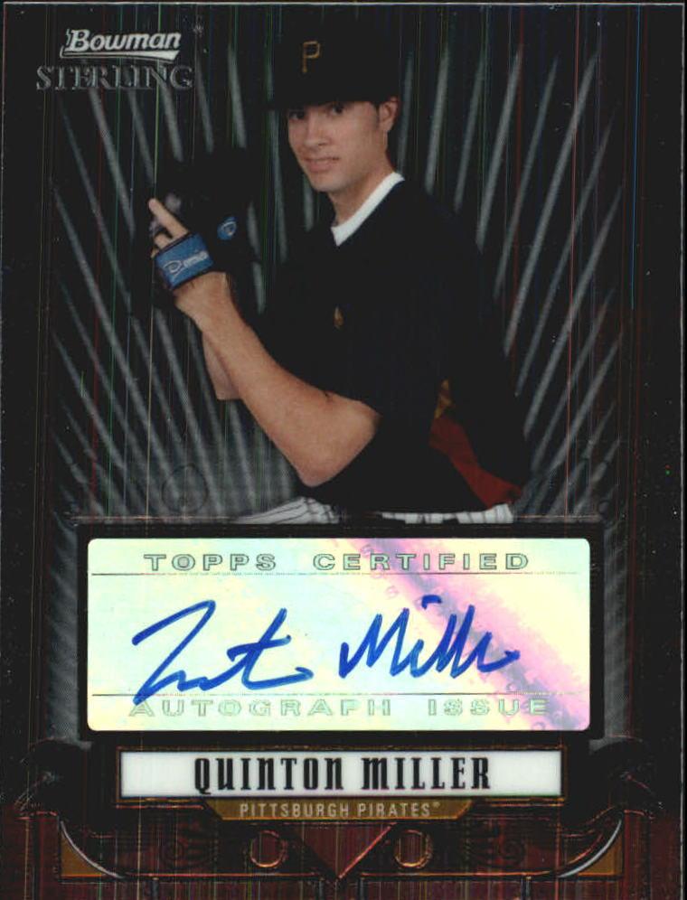 2008 Bowman Sterling Prospects #QM Quinton Miller AU