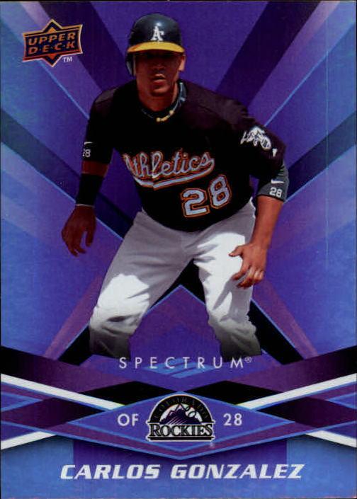 2009 Upper Deck Spectrum #72 Carlos Gonzalez