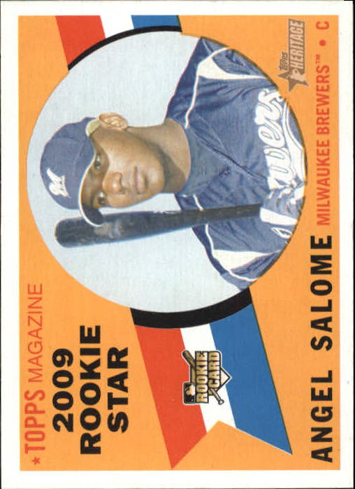 2009 Topps Heritage #121 Angel Salome (RC)