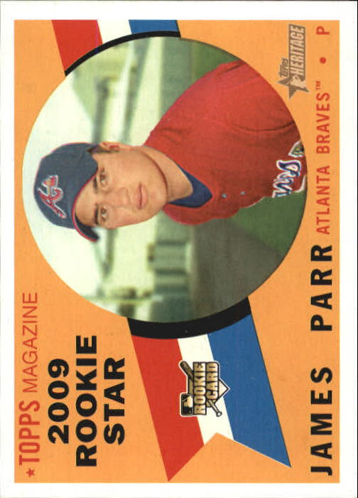 2009 Topps Heritage #129 James Parr (RC)