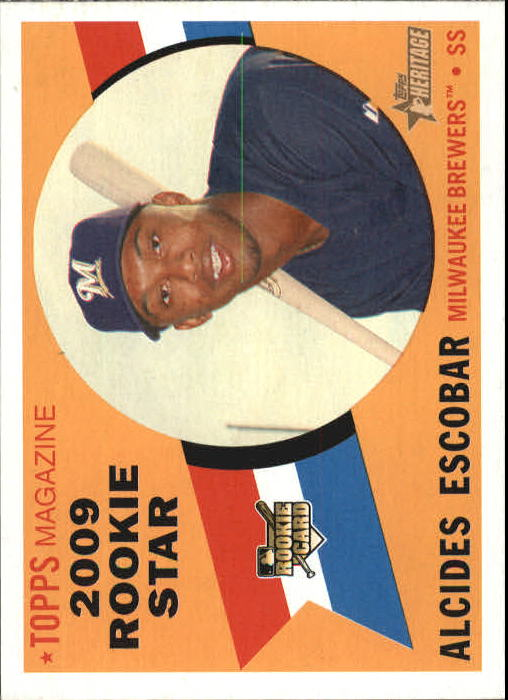 2009 Topps Heritage #143 Alcides Escobar RC