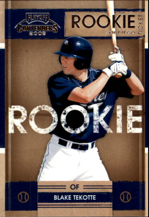 2008 Playoff Contenders #4 Blake Tekotte