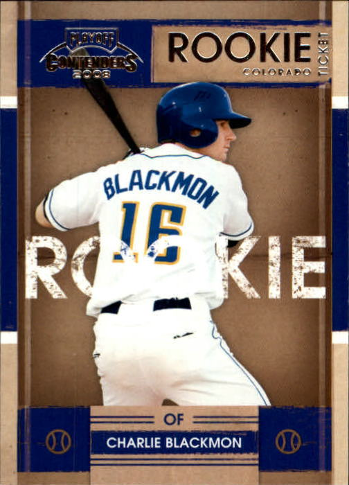 2008 Playoff Contenders #12 Charlie Blackmon