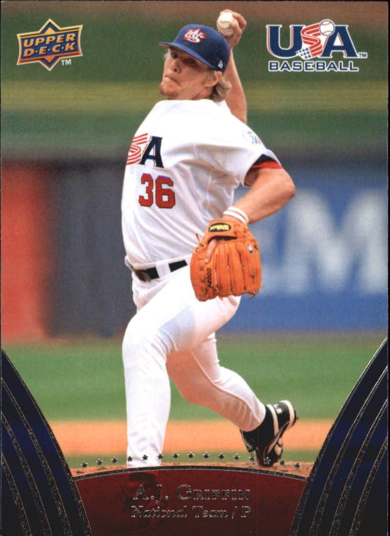 2008-09 USA Baseball #10 A.J. Griffin