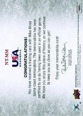 2008-09 USA Baseball National Team Jerseys #NTMM Mike Minor back image