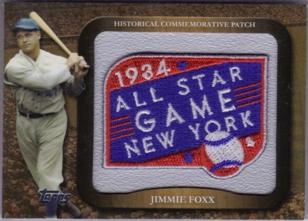 2009 Topps Legends Commemorative Patch #LPR5 Jimmie Foxx/1934 All-Star Game