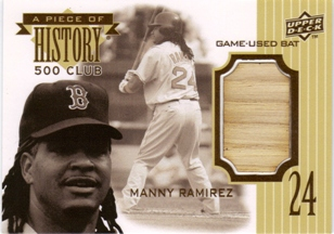 2009 Upper Deck A Piece of History 500 Club #MR Manny Ramirez