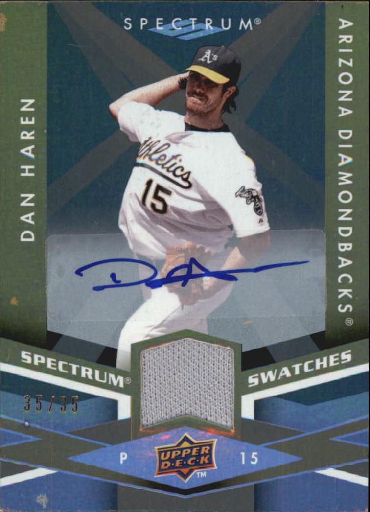 2009 Upper Deck Spectrum Spectrum Swatches Autographs #SSDH Dan Haren/35