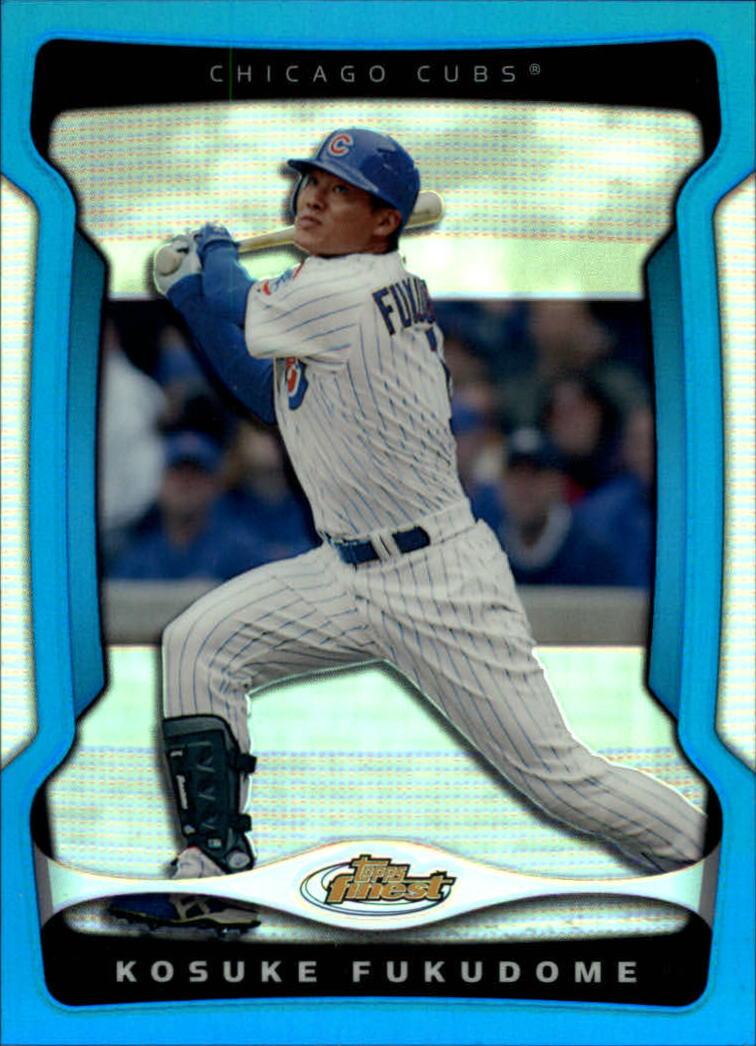 2009 Finest Refractors Blue #1 Kosuke Fukudome