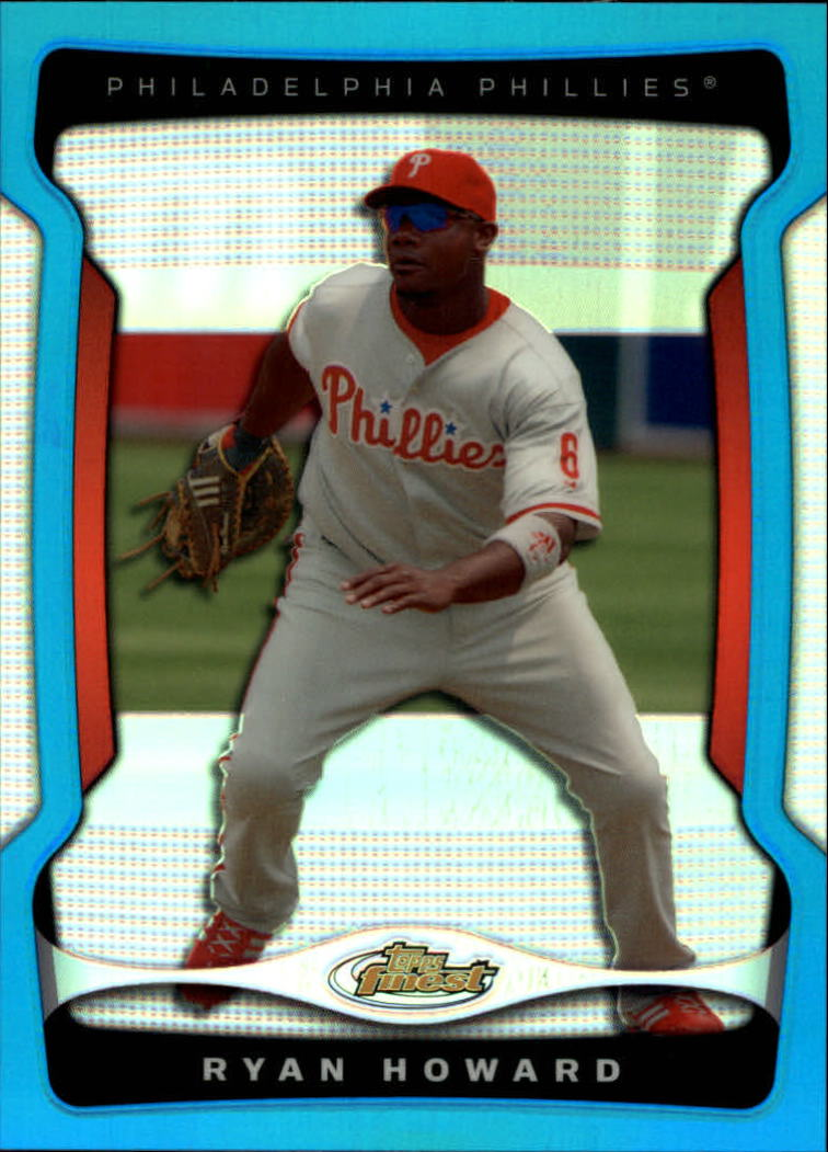 2009 Finest Refractors Blue #6 Ryan Howard