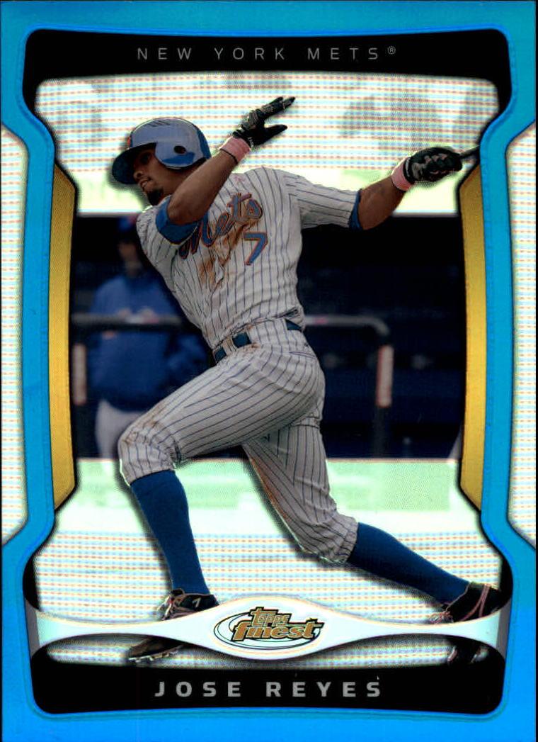 2009 Finest Refractors Blue #7 Jose Reyes