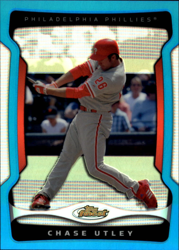 2009 Finest Refractors Blue #26 Chase Utley