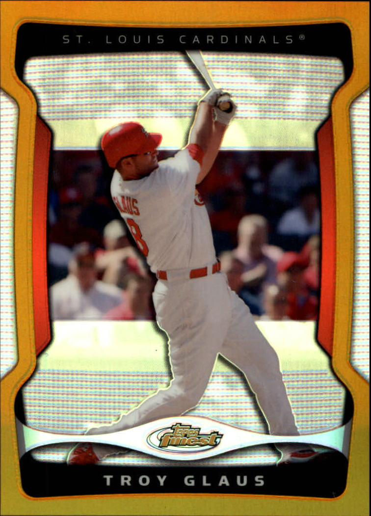 2009 Finest Refractors Gold #66 Troy Glaus