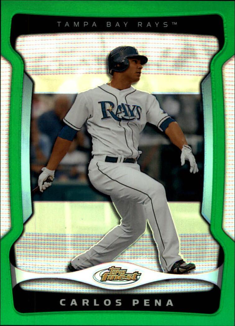 2009 Finest Refractors Green #23 Carlos Pena