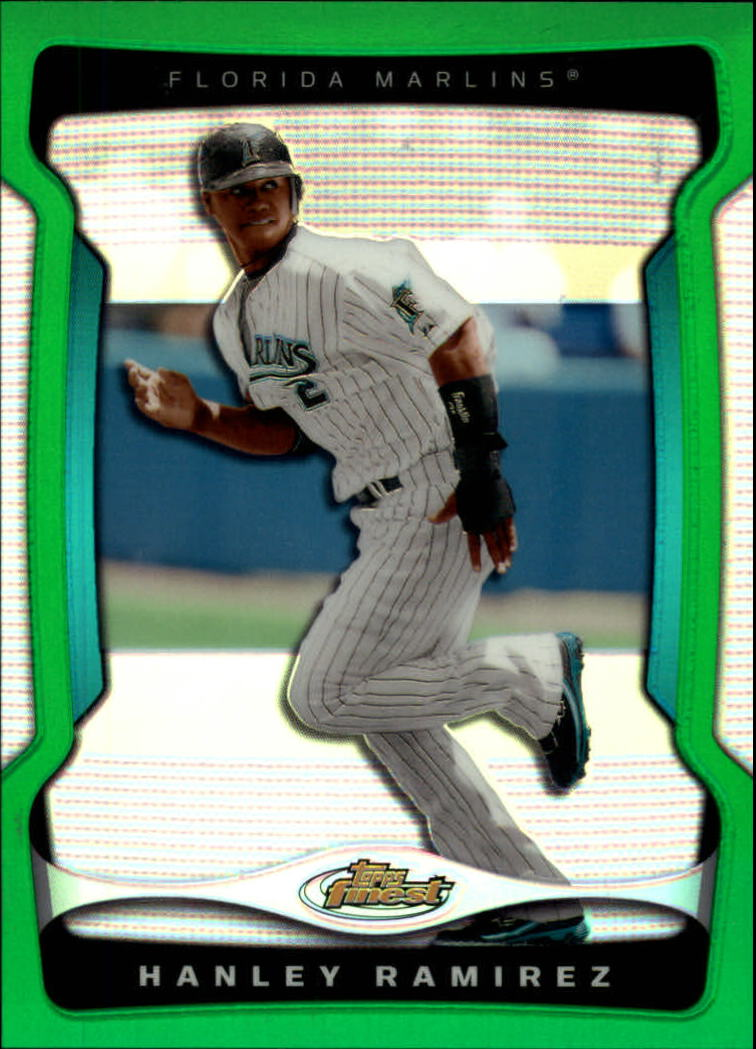 2009 Finest Refractors Green #37 Hanley Ramirez