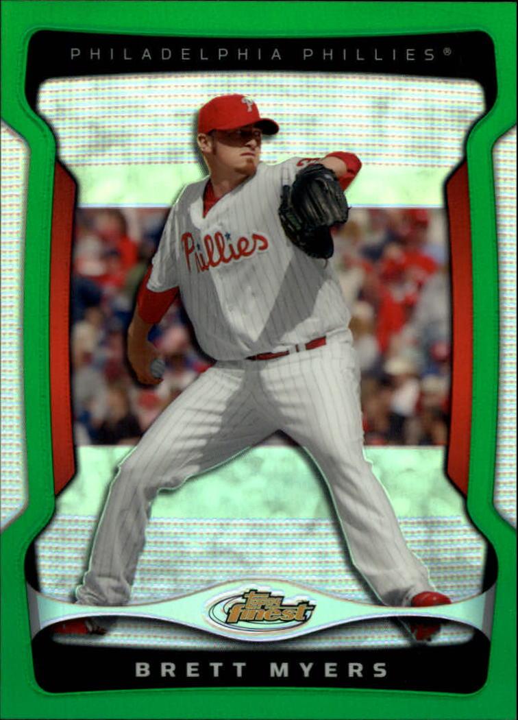 2009 Finest Refractors Green #39 Brett Myers