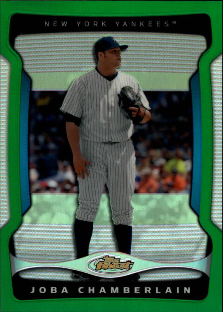 2009 Finest Refractors Green #62 Joba Chamberlain