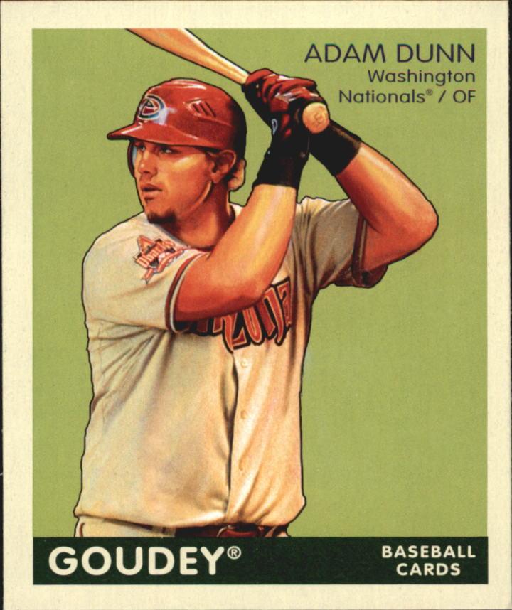2009 Upper Deck Goudey Mini Green Back #1 Adam Dunn