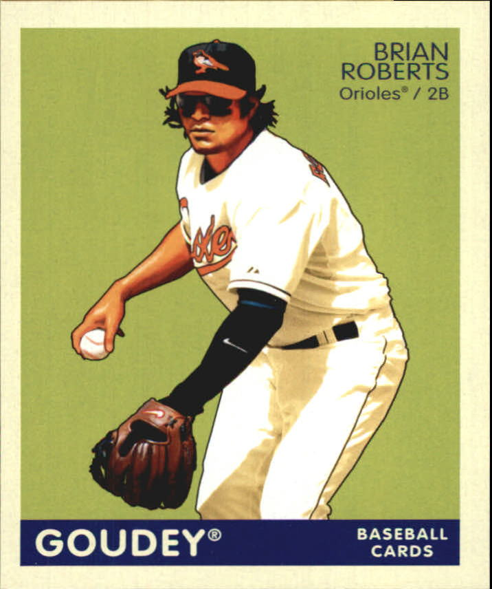 2009 Upper Deck Goudey Mini Navy Blue Back #17 Brian Roberts