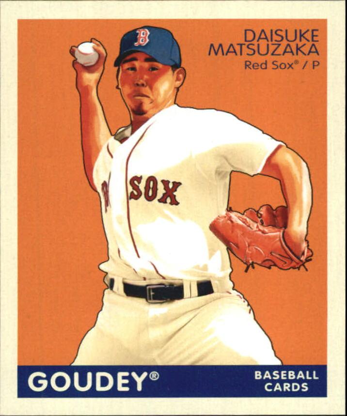 2009 Upper Deck Goudey Mini Navy Blue Back #32 Daisuke Matsuzaka