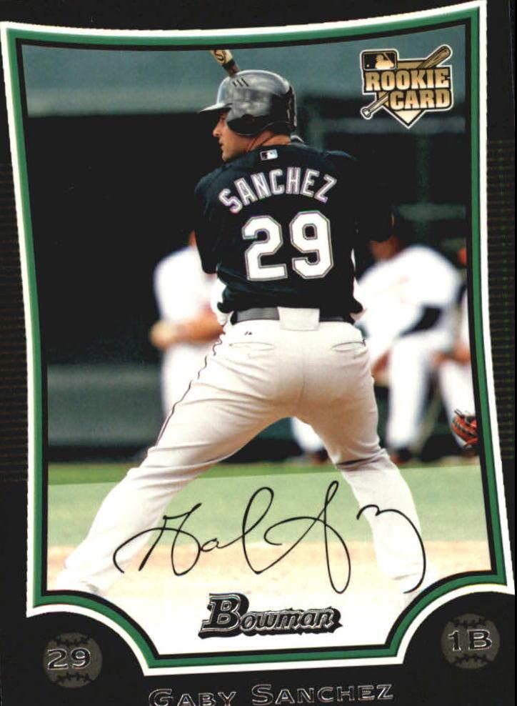 2009 Bowman #215 Gaby Sanchez RC