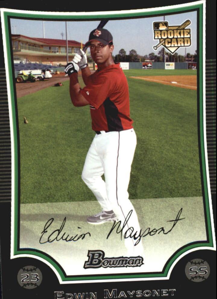 2009 Bowman #219 Edwin Maysonet RC