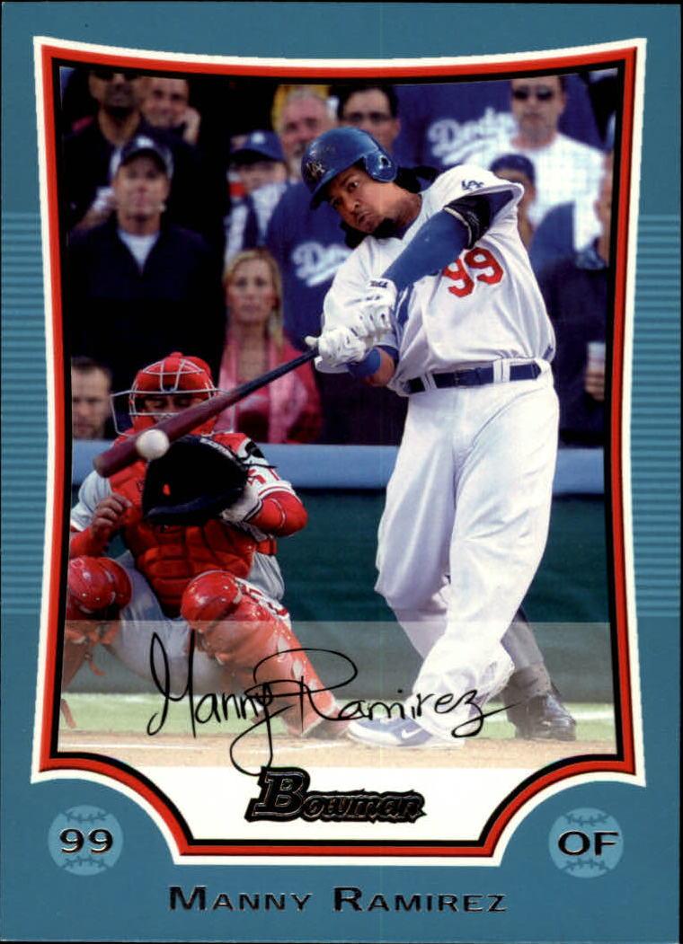 2009 Bowman Blue #8 Manny Ramirez