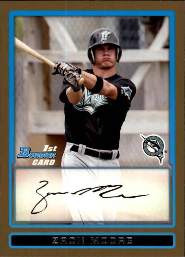 2009 Bowman Prospects Gold #BP85 Zach Moore