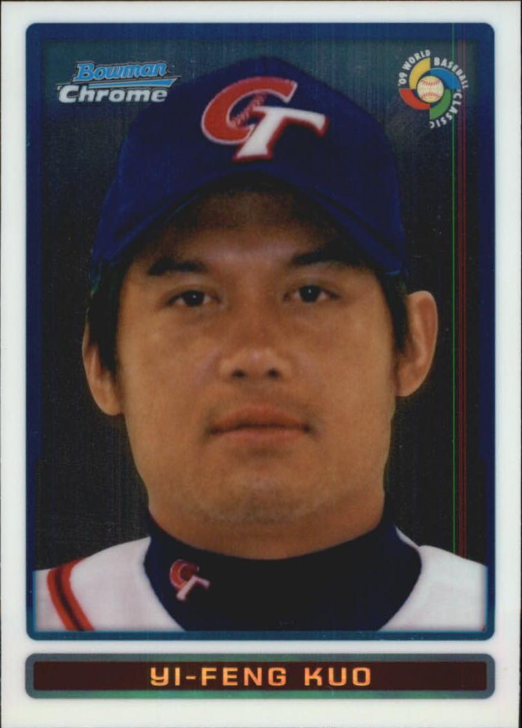 2009 Bowman Chrome WBC Prospects #BCW56 Yi-Feng Kuo